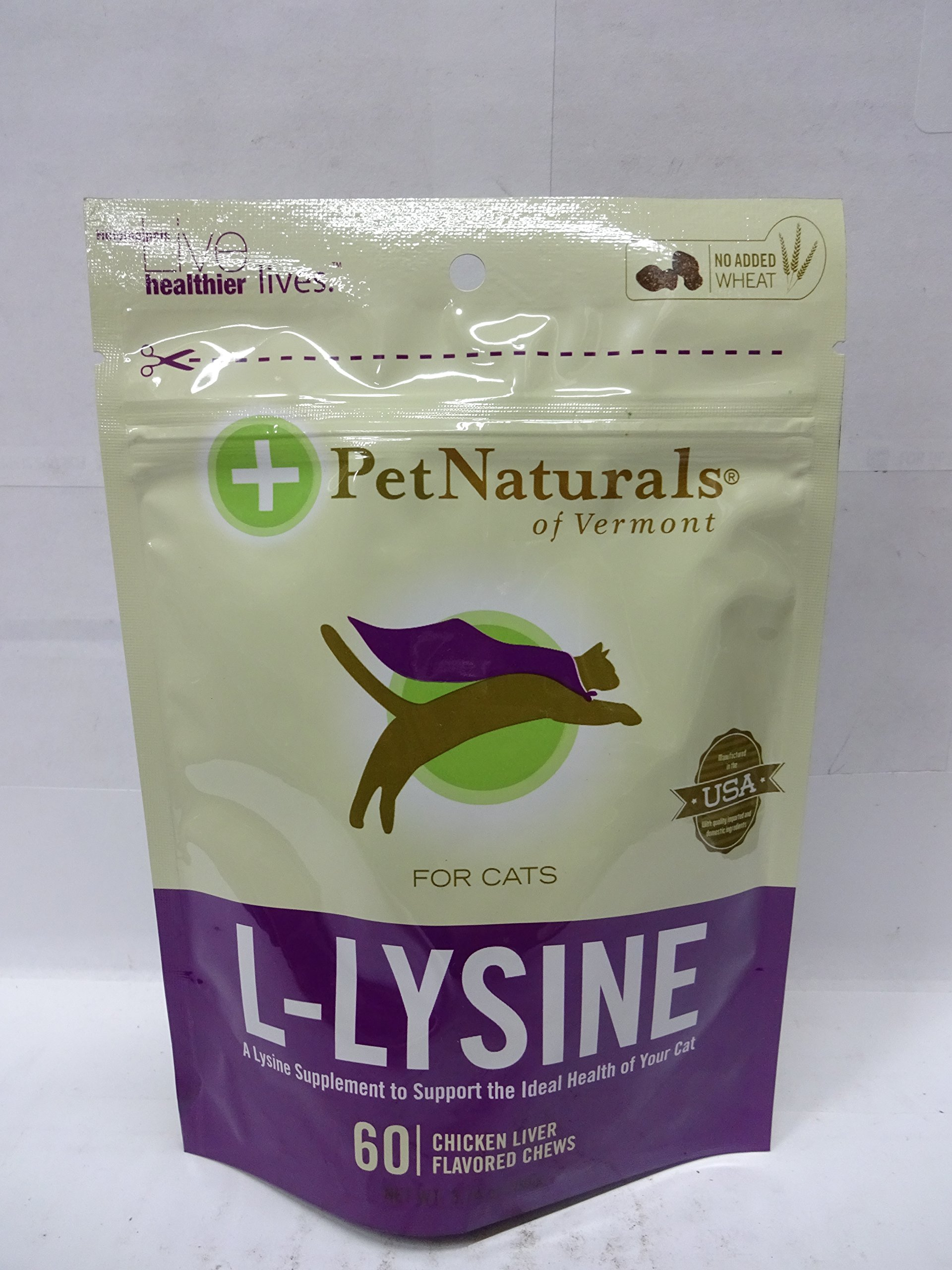 Pet Naturals of Vermont L-Lysine 60 Fun-Shaped Chews for Cats - 8 pack by Pet Naturals