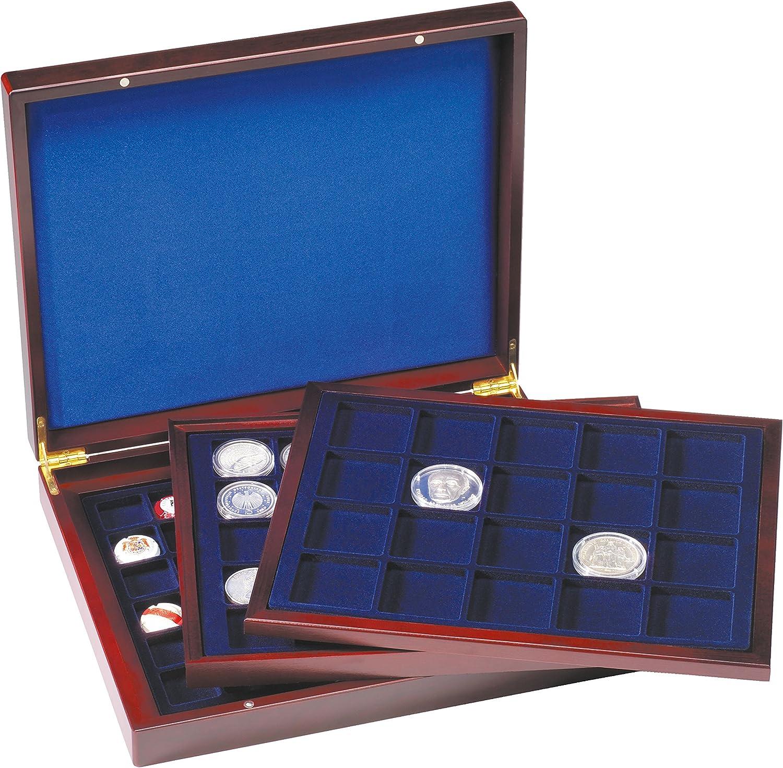 Leuchtturm 308045 Estuche para Monedas VOLTERRA Trio de Luxe, para divisiones cuadradas de 30, 39, 48 mm Ø: Amazon.es: Juguetes y juegos