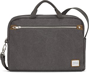 Travelon Anti-Theft Heritage Messenger Briefcase, Pewter, One Size