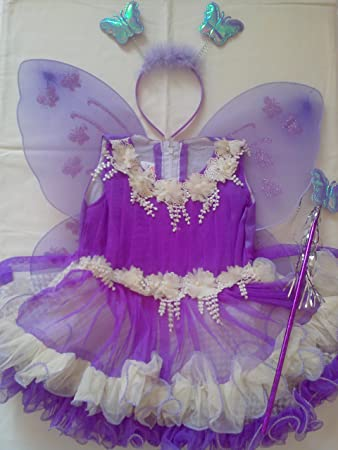 fef9b58ff Buy Baby Girl Birthday Party Costume Dress Set Purple Color with ...
