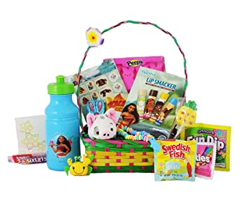 Amazon moana candy and toy easter bunny gift basket with moana candy and toy easter bunny gift basket with plush pua the pig negle Gallery