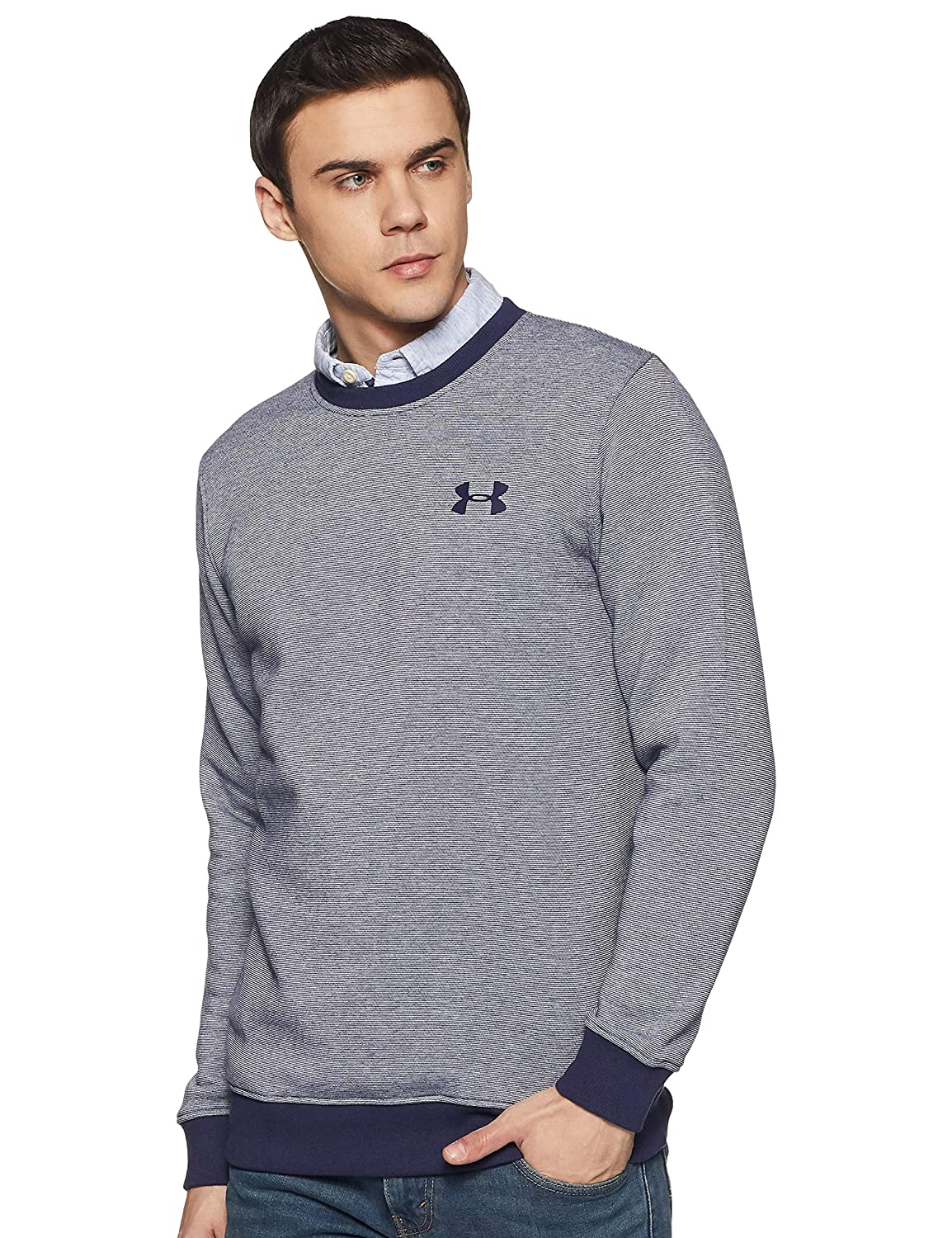TALLA S. Under Armour Rival Fitted Eoe Crew Sudadera, Hombre