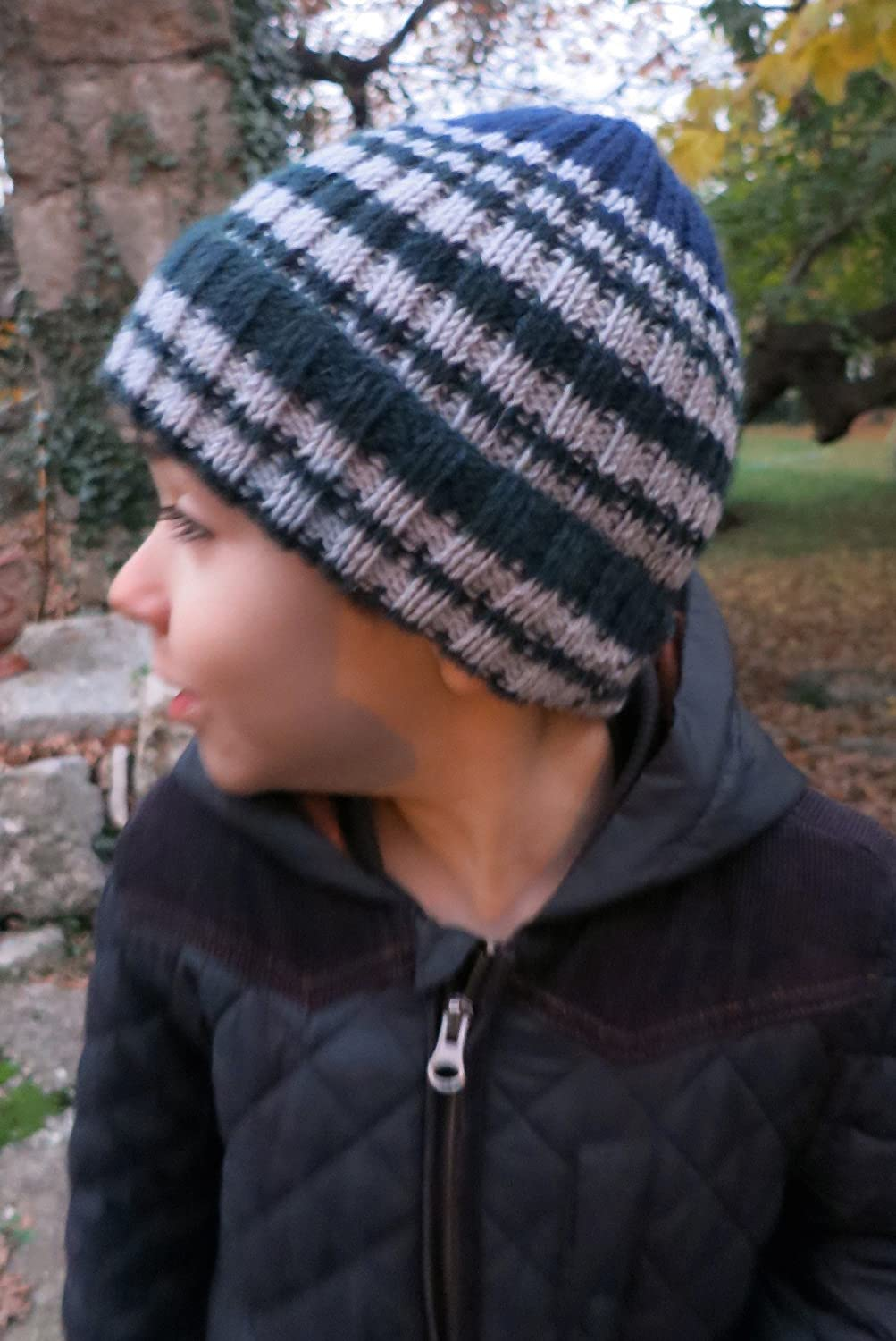 Knitted by Hand Pure Alpaca Wintery Hat for Boys Made to Order in any Color!