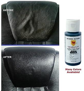 Amazon.com: Leather Restore Leather Color Repair, BLACK, 1 OZ ...