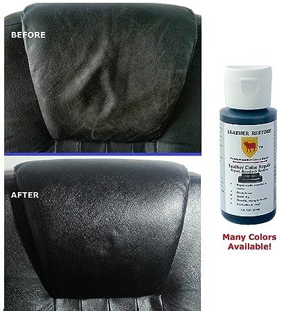 Leather Restore Leather Color Repair, BLACK, 1 OZ Bottle   Repair, Recolor U0026