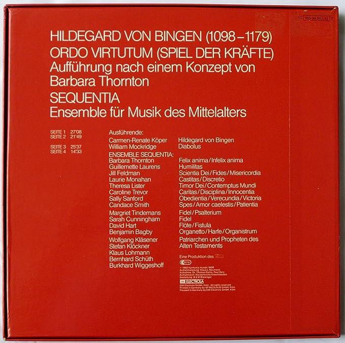 Hildegard Von Bingen, Sequentia, Ensemble for Musik des Mittelalters - Hildegard Von Bingen: Ordo Virtutum - Sequentia, Ensemble for Musik des Mittelalters ...