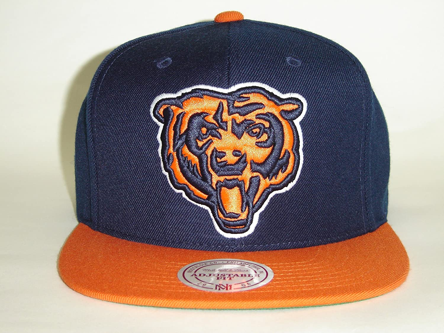 Mitchell and Ness NFL Chicago Bearsロゴ2トーンレトロスナップバックキャップ   B008J8NAC0