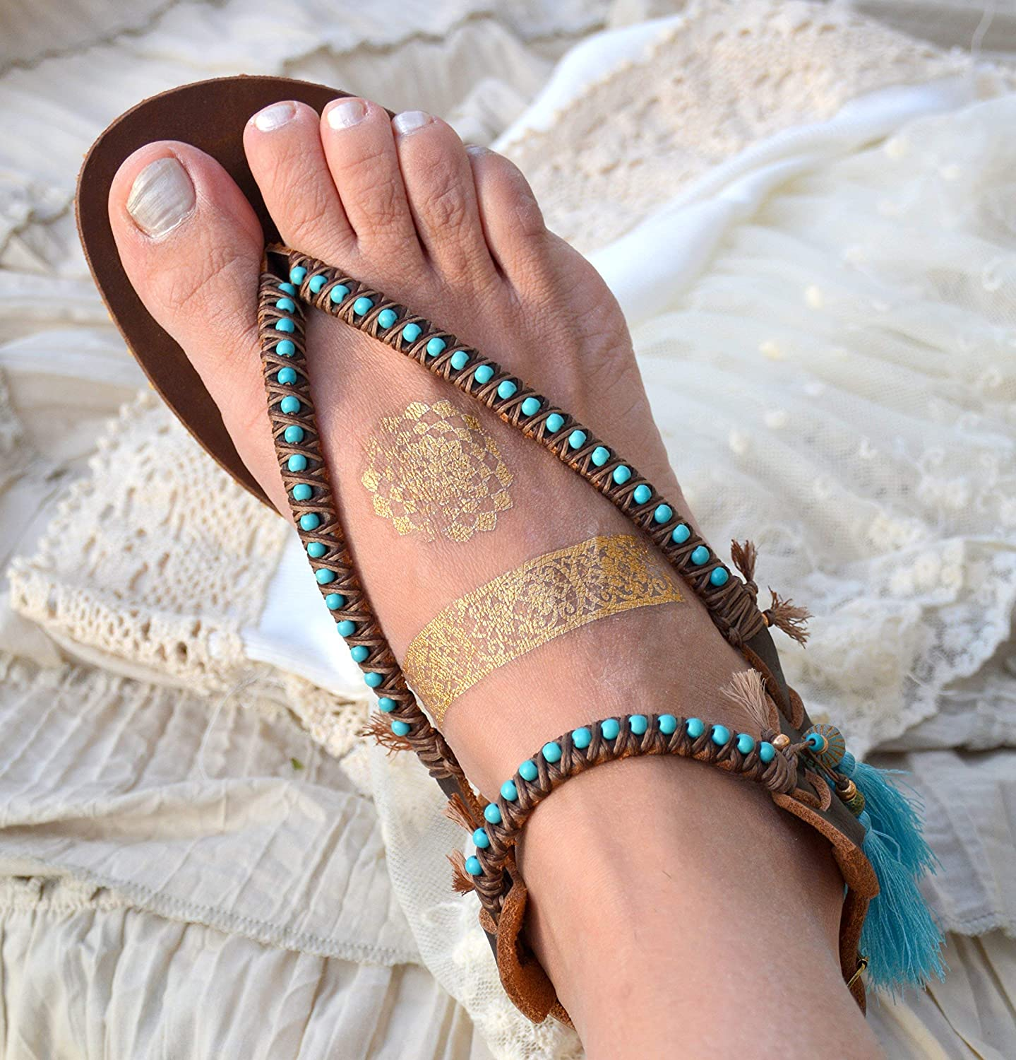 Amazon.com: Leather Sandals for Women