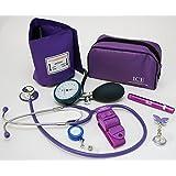 Kit médico con tensiómetro, monitor de presión sanguínea manual, estetoscopio, bolígrafo…