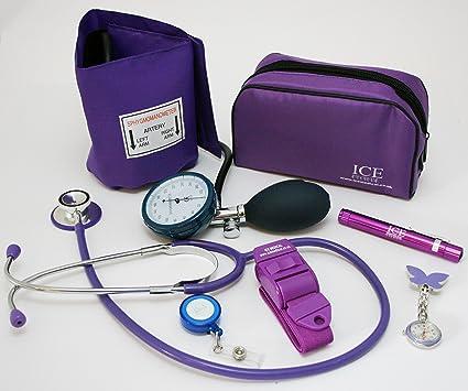 Kit médico con tensiómetro, monitor de presión sanguínea manual, estetoscopio, bolígrafo con luz