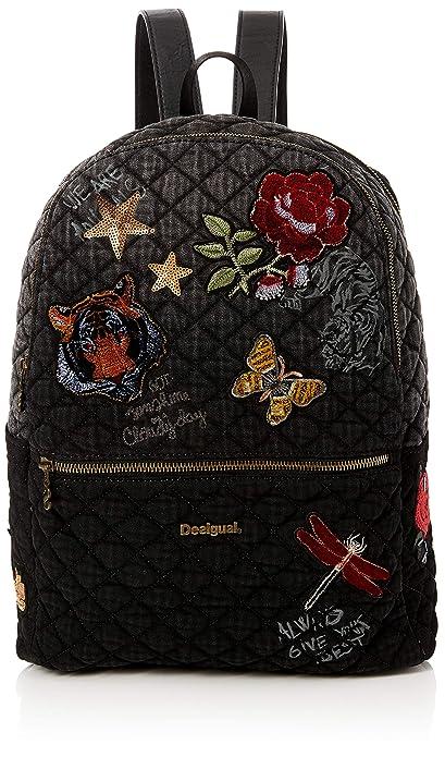 Desigual - Bols_always Milan, Bolsos mochila Mujer, Negro, 13x39.5x31 cm (B x H T): Amazon.es: Zapatos y complementos