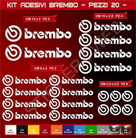 Calibrador de freno GraphicFX Brembo Logo Hi Temp