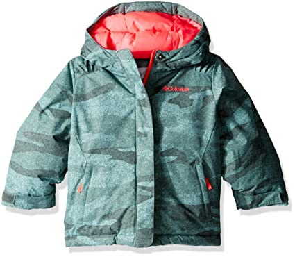Columbia Little Girls' Horizon Ride Jacket, Pond Camo, XX-Small (4