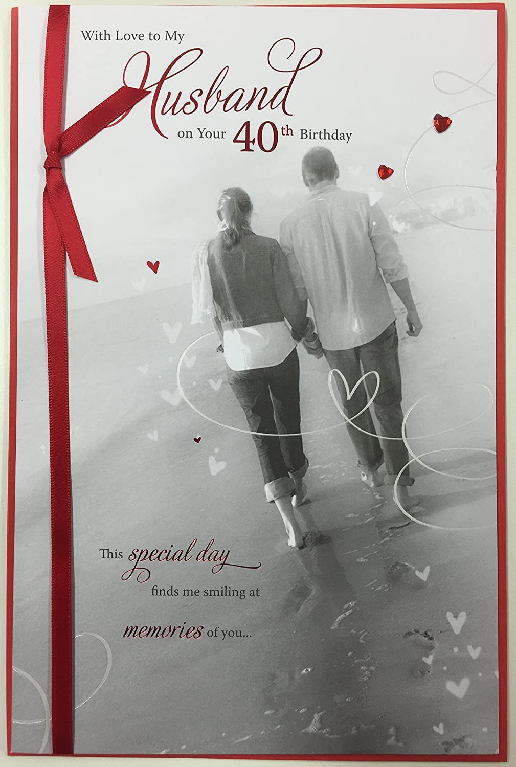 40th Birthday Greeting Card For Husband Finest Quality Age 40 New