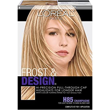 Amazon loral paris frost and design cap hair highlights loral paris frost and design cap hair highlights for long hair h85 champagne pmusecretfo Image collections