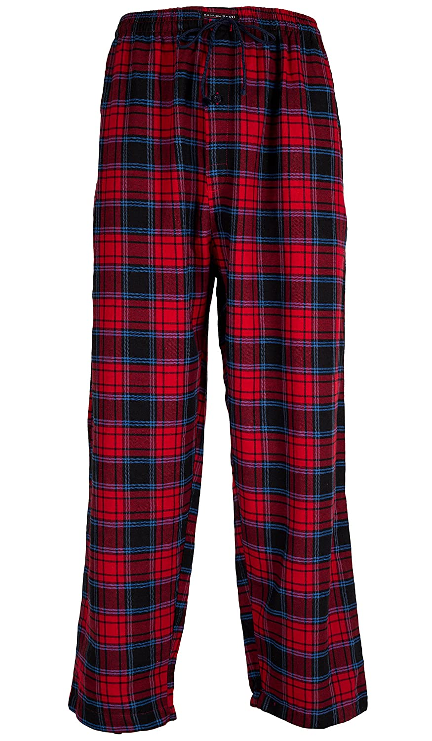Amazon.com: Andrew Scott Mens 3 Pack Cotton Flannel Fleece Brush Pajama Sleep & Lounge Pants: Clothing