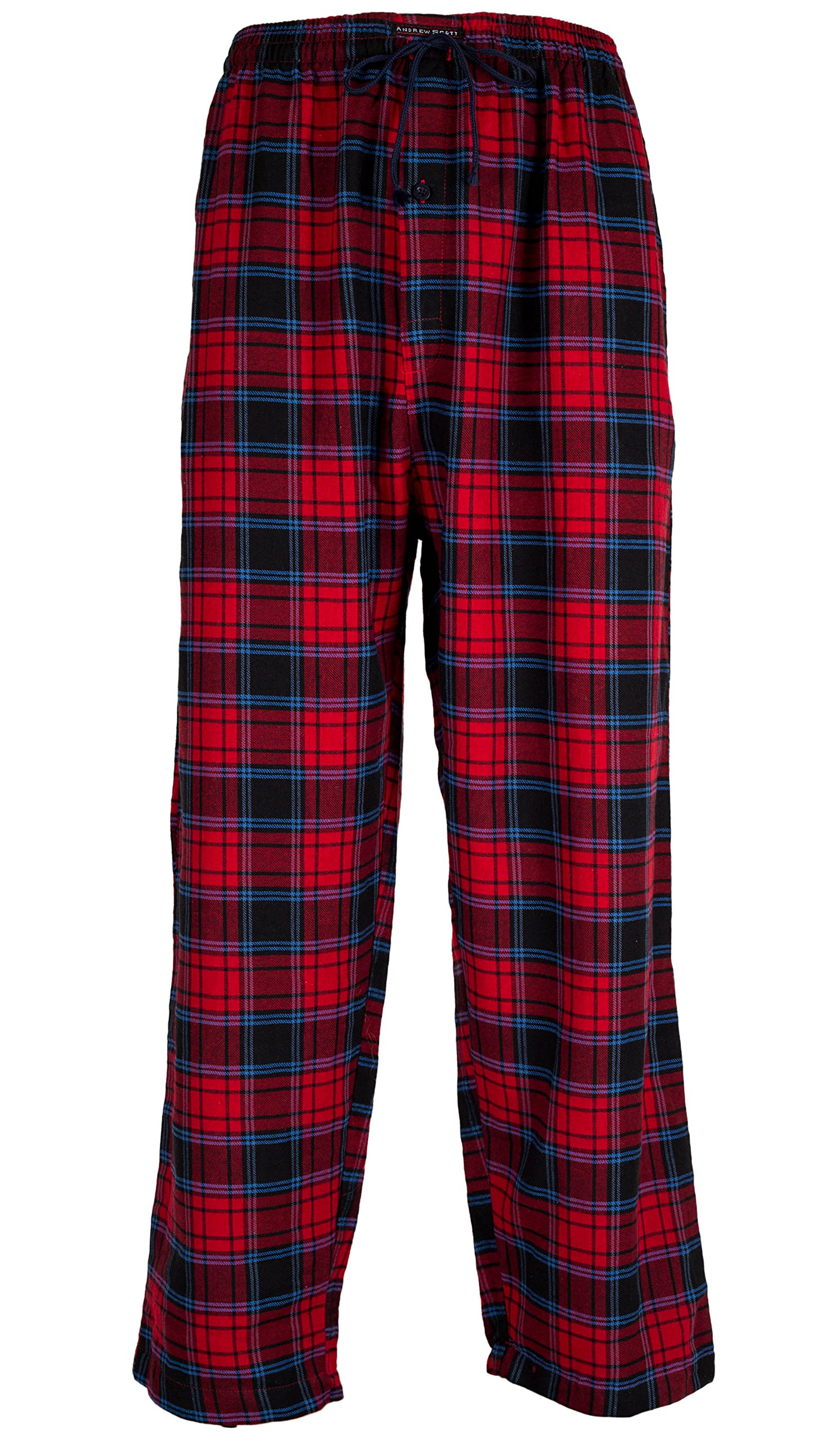 Andrew Scott Men's 3 Pack Cotton Flannel Fleece Brush Pajama Sleep & Lounge Pants (XL/40-42, 3 Pack - Classic Flannel Assorted Plaids) by Andrew Scott (Image #4)