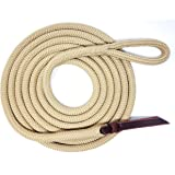 Knotty Girlz 9/16 Double Braid Polyester Yacht Horse Lead Rope Natural Horsemanship with Option of Loop or Snap 12ft. or 14ft