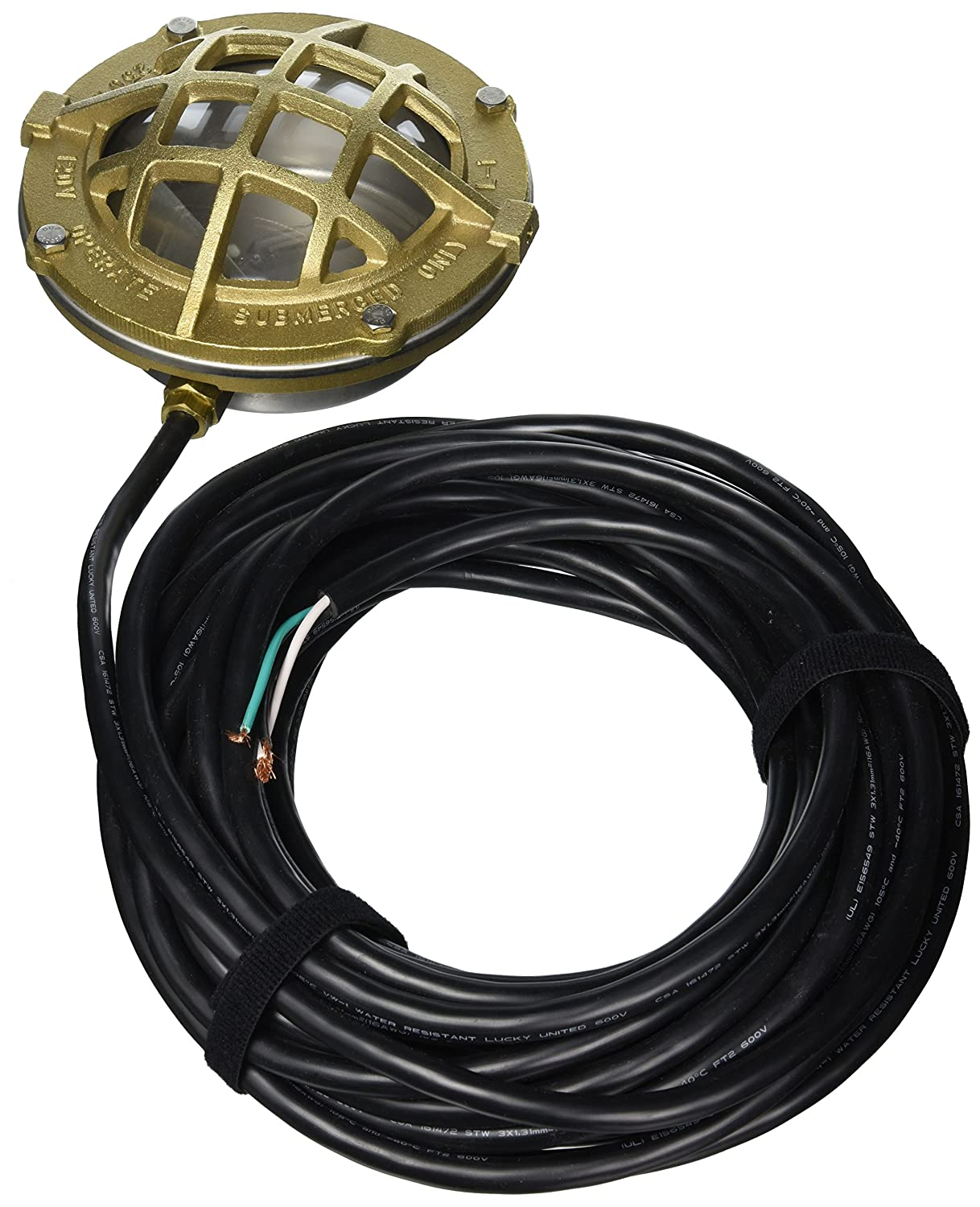 Little Giant 517413 L1C-20 Bronze and SST Underwater Light with 20-Feet Cord Franklin Electric - Pools