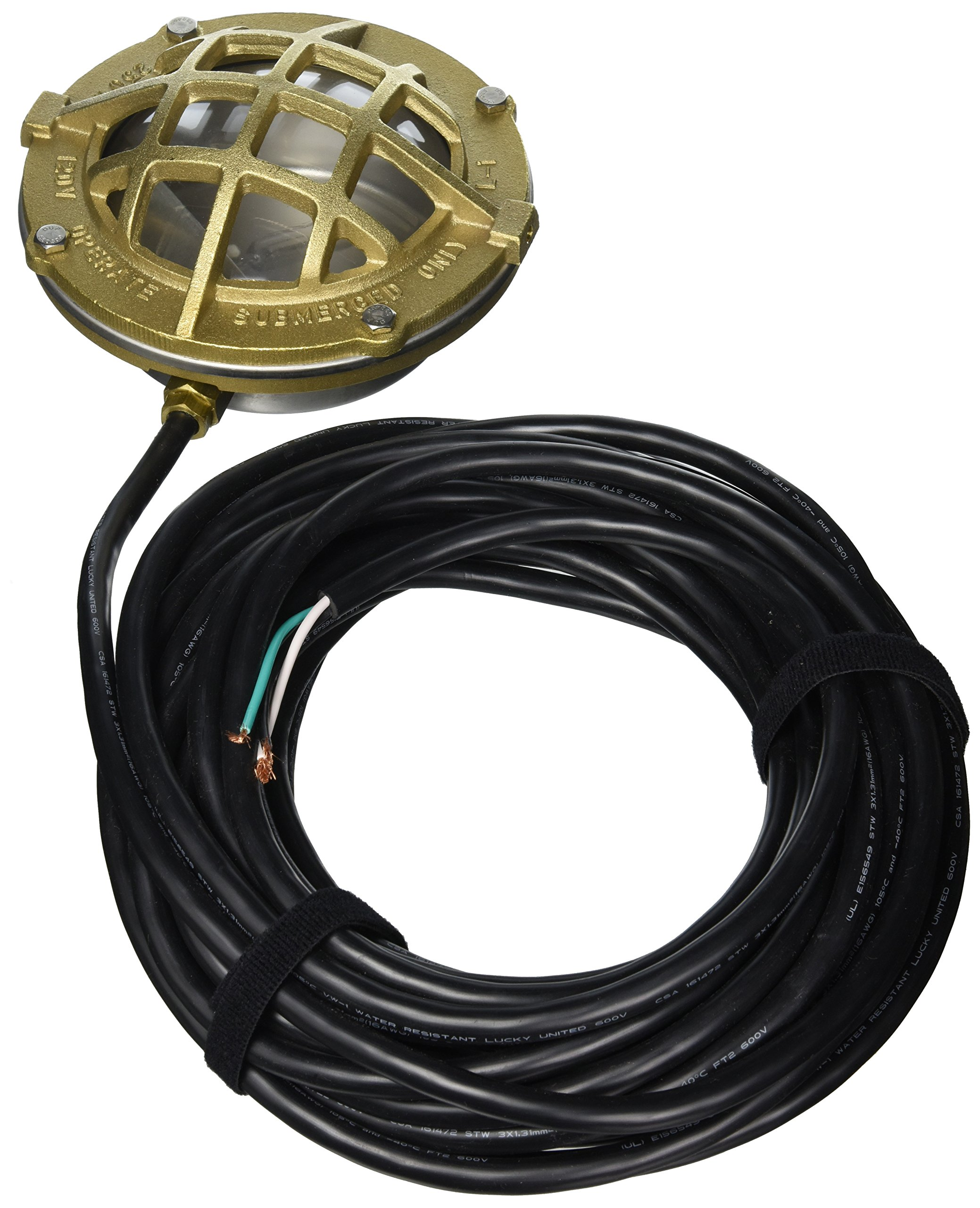 Little Giant 517414 L1C-50 Bronze and SST Underwater Light with 50-Feet Cord by Little Giant