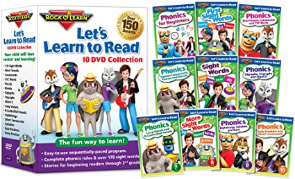 Amazon.com: Let's Learn to Read 10-DVD Collection by Rock 'N Learn ...