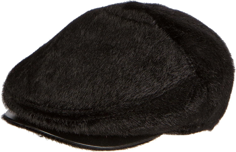 bb861900a0b Sakkas Faux Mink Fur Back Flap Ivy Driving Newsboy Cap Hat Adjustable Snap  Front at Amazon Men s Clothing store