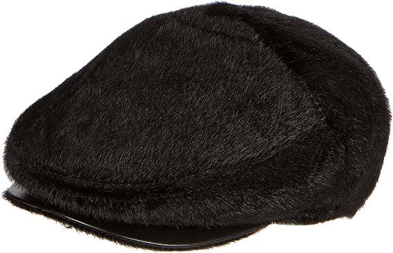 1050385d248 Sakkas 16159 - Faux Mink Fur Back Flap Ivy Driving Newsboy Cap Hat  Adjustable Snap Front