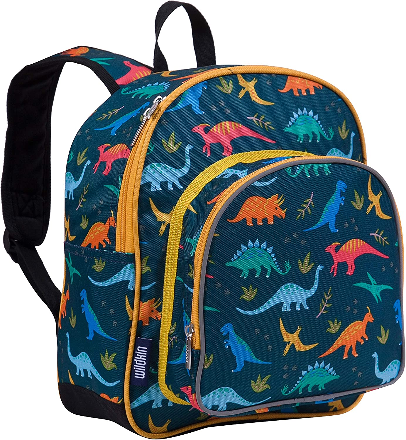 Wildkin Kids 12 Inches Backpack for Toddlers, Boys and Girls, Ideal for Daycare, Preschool & Kindergarten, Perfect Size for School and Travel, Mom's Choice Award Winner, Olive Kids(Jurassic Dinosaurs)