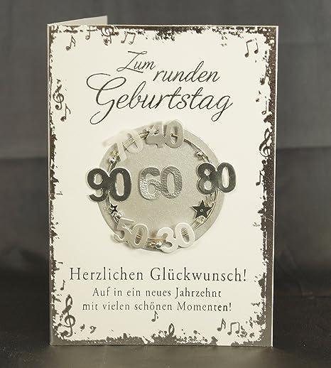 número circular tarjeta plegable para cumpleaños deseos ...