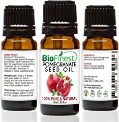 BioFinest Pomegranate Seed Organic Oil - 100% Pure Cold-Pressed - Premium Quality - Best Moisturizer For Hair, Face & Skin - Rich in Antioxidant/Vitamin - FREE E-Book (10ml)
