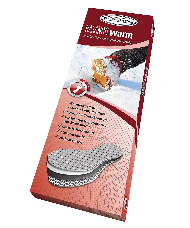 RASANDO Extra warme Einlegesohlen f/ür den Winter I Atmungsaktive W/ärmesohlen f/ür Damen und Herren I Optimale Fu/ßw/ärmer I Geruchshemmende Schuhw/ärmer