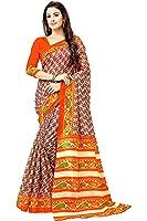 Glory Sarees Women's Cotton Silk Saree With Blouse Piece (Gloryart6 _Orange)