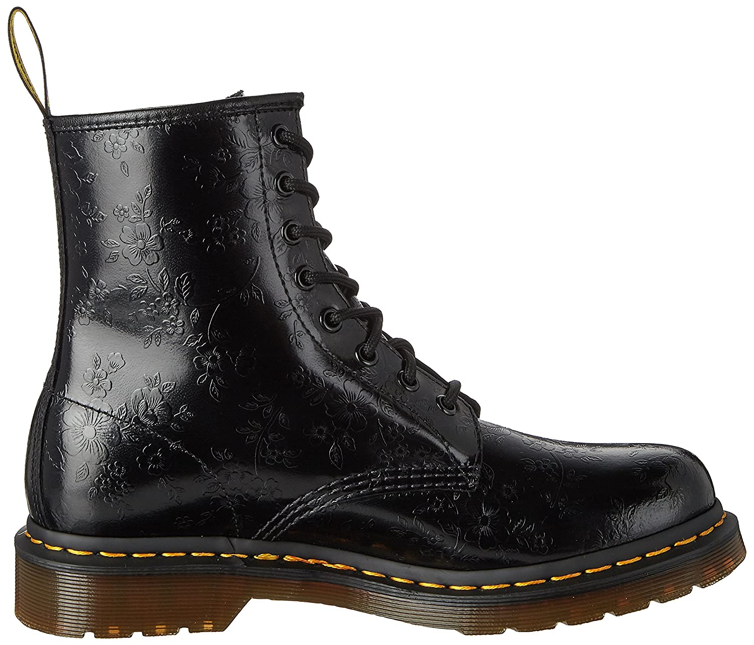 Dr. Martens 60 QQ Flowers 8 Eye Boots Women black Damen TNTXGkdp