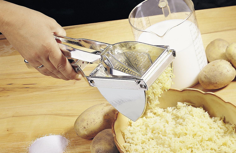 Fackelmann 45450 11.4 x 3.9 x 3.1 Tin Plate Potato Press Silver