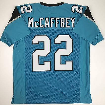 c0f2dc1e4 Unsigned Christian McCaffrey Carolina Blue Custom Stitched Football Jersey  Size Men's XL New No Brands/