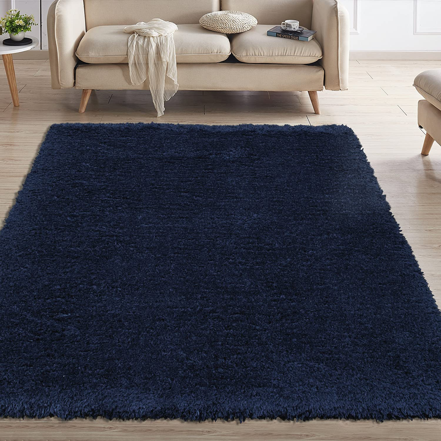 Sweet Home Stores SFFR1006-5X7 Flokati Collection Shag Area Rug, 5'3