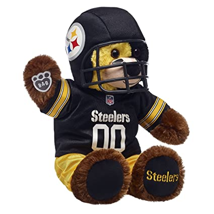 53d87790512 Amazon.com  Build A Bear Workshop Pittsburgh Steelers Teddy Bear Fan ...