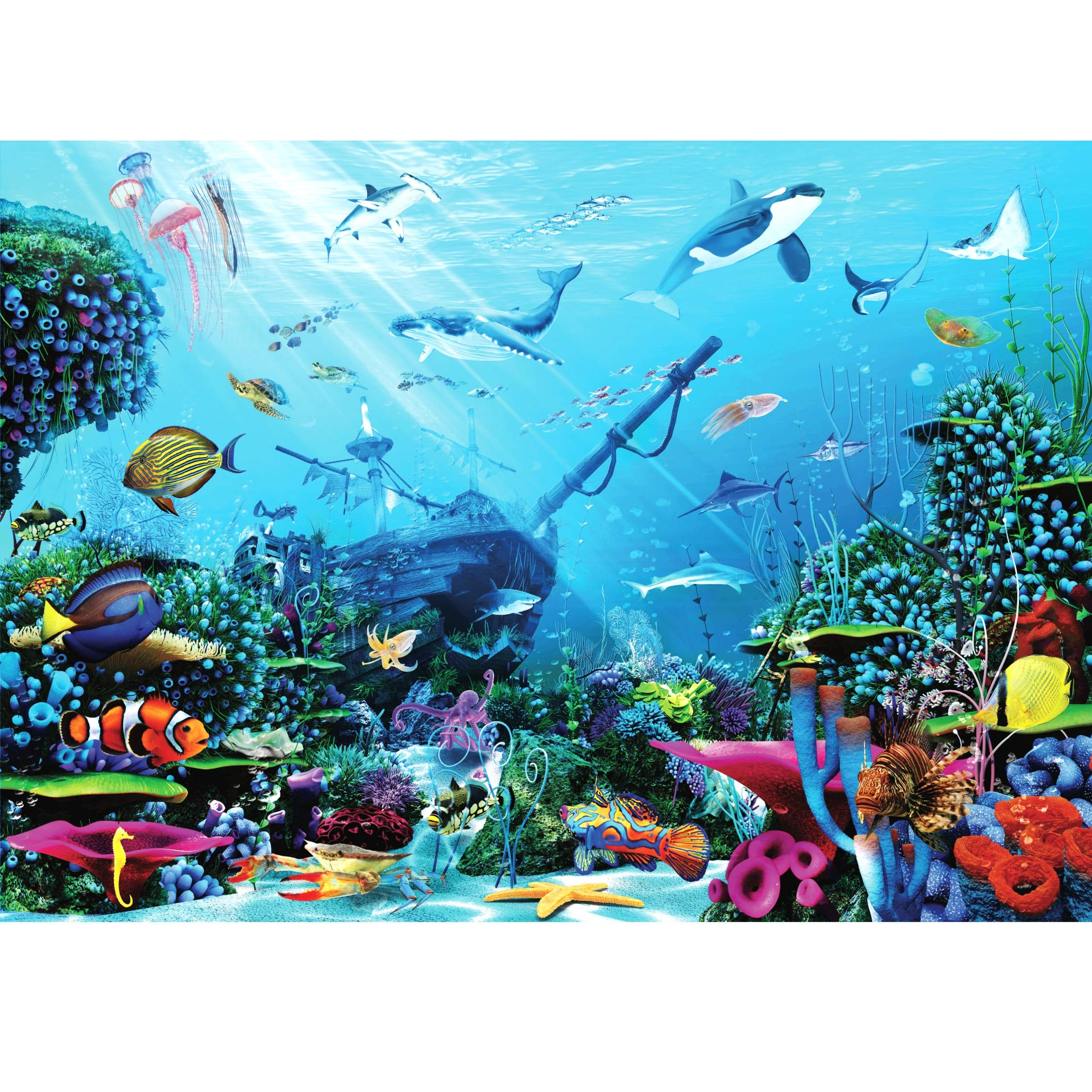 Puzzle Dazzle - Jigsaw Puzzles for Adults 1000 Pieces - UNDERWATER ADVENTURE 70 x 50 cm - UK Brand for Toys - Interactive 1000 Piece Jigsaw Puzzles with Gaming Experience - Premium Jigsaw Puzzle Box