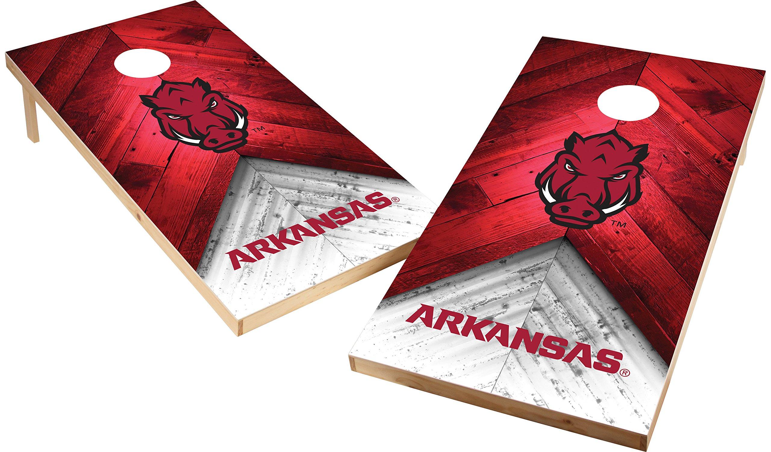 Wild Sports NCAA College 2'x4' Arkansas Razorbacks Cornhole Set