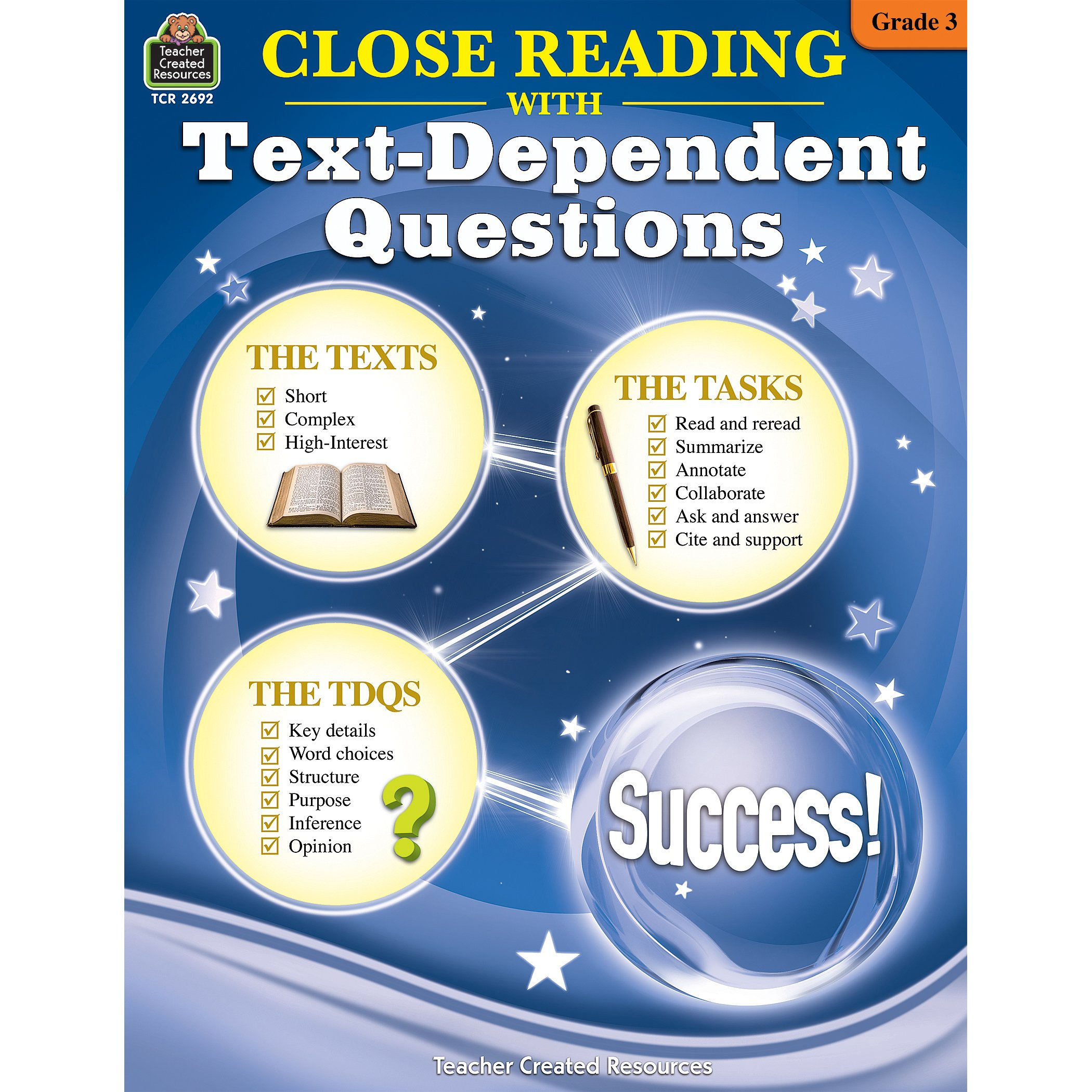 Close Reading Using Text-Dependent Questions Grade 3: Ruth Foster M:  9781420626926: Amazon.com: Books