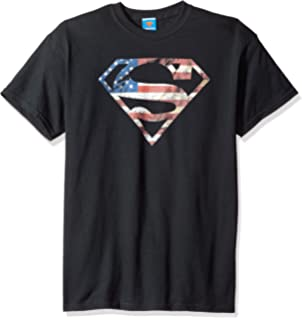 Superman RED ON BLACK SHIELD Licensed Juniors Cap Sleeve T-Shirt