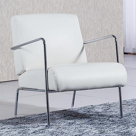 Sedutahome Butaca de Espera tapizada Modelo Lobby Color Blanco