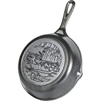 "Lodge Wildlife Series-8"" Cast Iron Skillet with Duck Scene, 8"", Black"