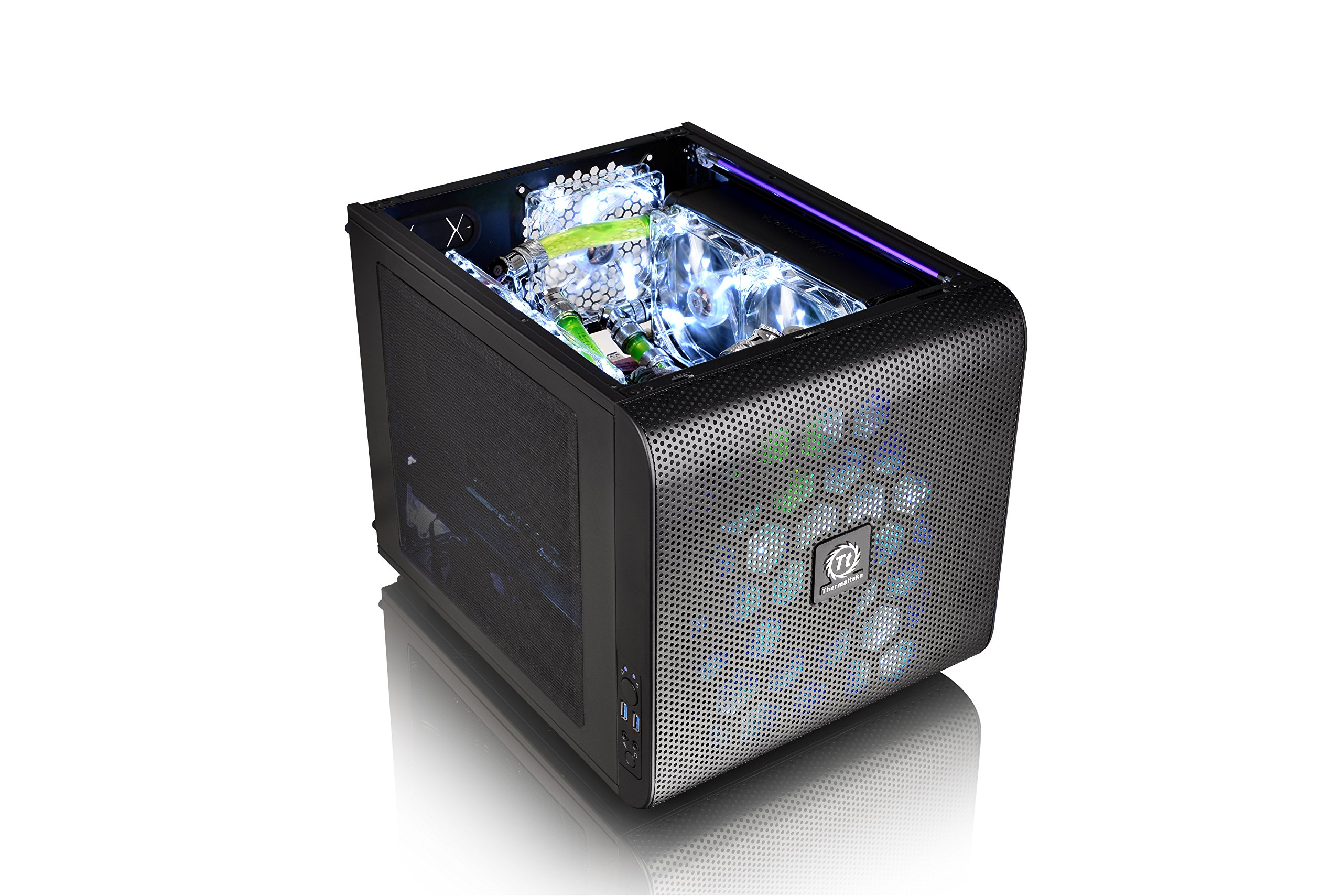 Thermaltake Core V21 SPCC Micro ATX, Mini ITX Cube Gaming Computer Case Chassis, Small Form Factor Builds, 200mm Front Fan Pre-installed, CA-1D5-00S1WN-00 by Thermaltake (Image #12)