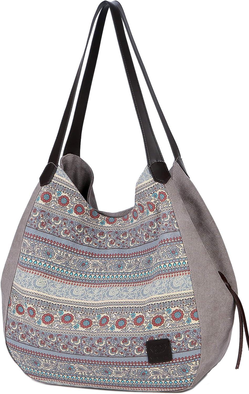 DCCN Bolso de lona, bolsa de señora, shopper bag, bolso de hobo