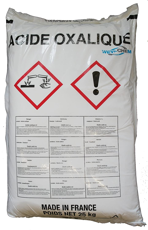 25kg Oxalsäure Pulver (Kleesalz, Ethandisäure), min 99,6% Ethandisäure) WHC GmbH