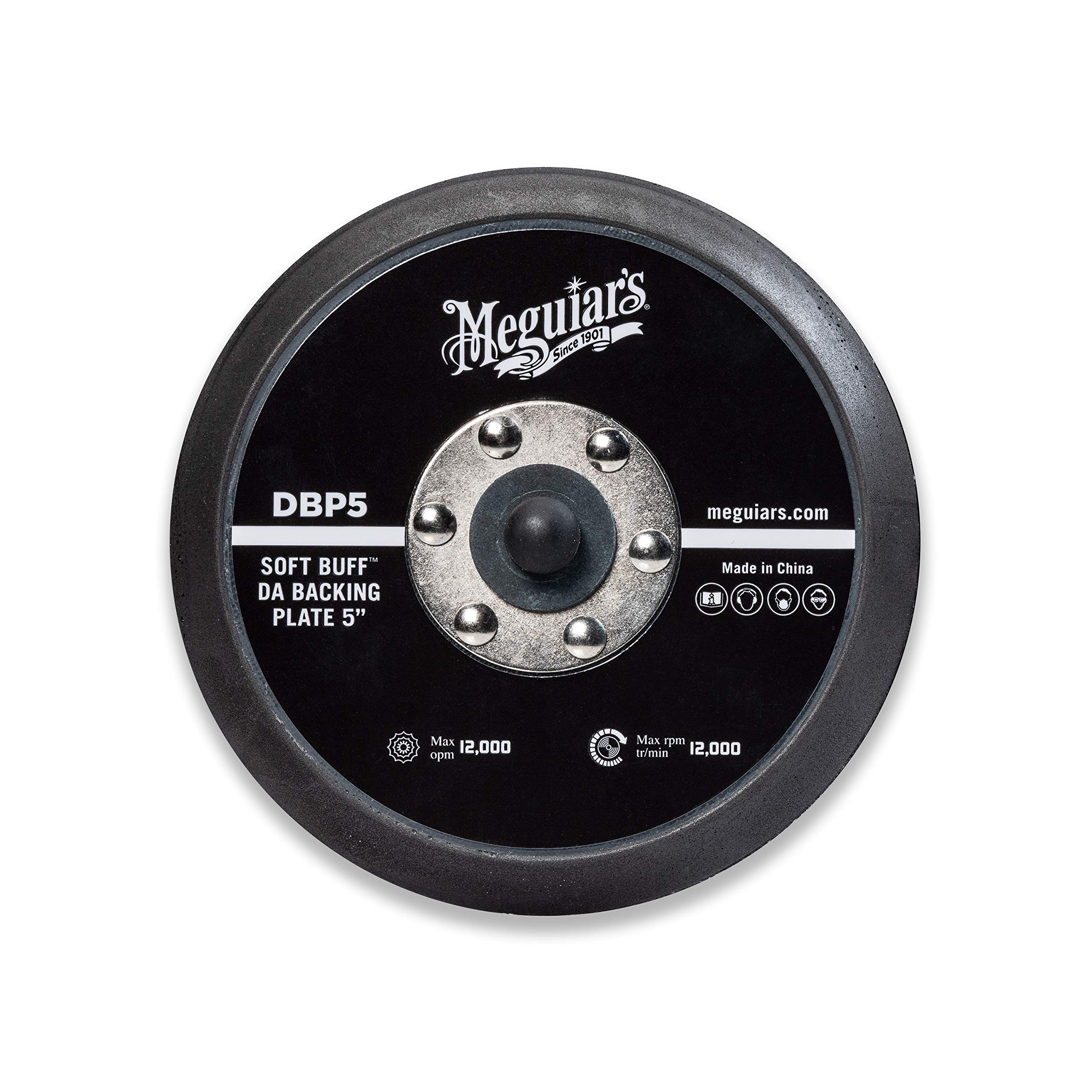 """Meguiar's 5"""" Soft Buff DA Backing Plate – Use with MT300 Dual Action Variable Speed Polisher – DBP5"""