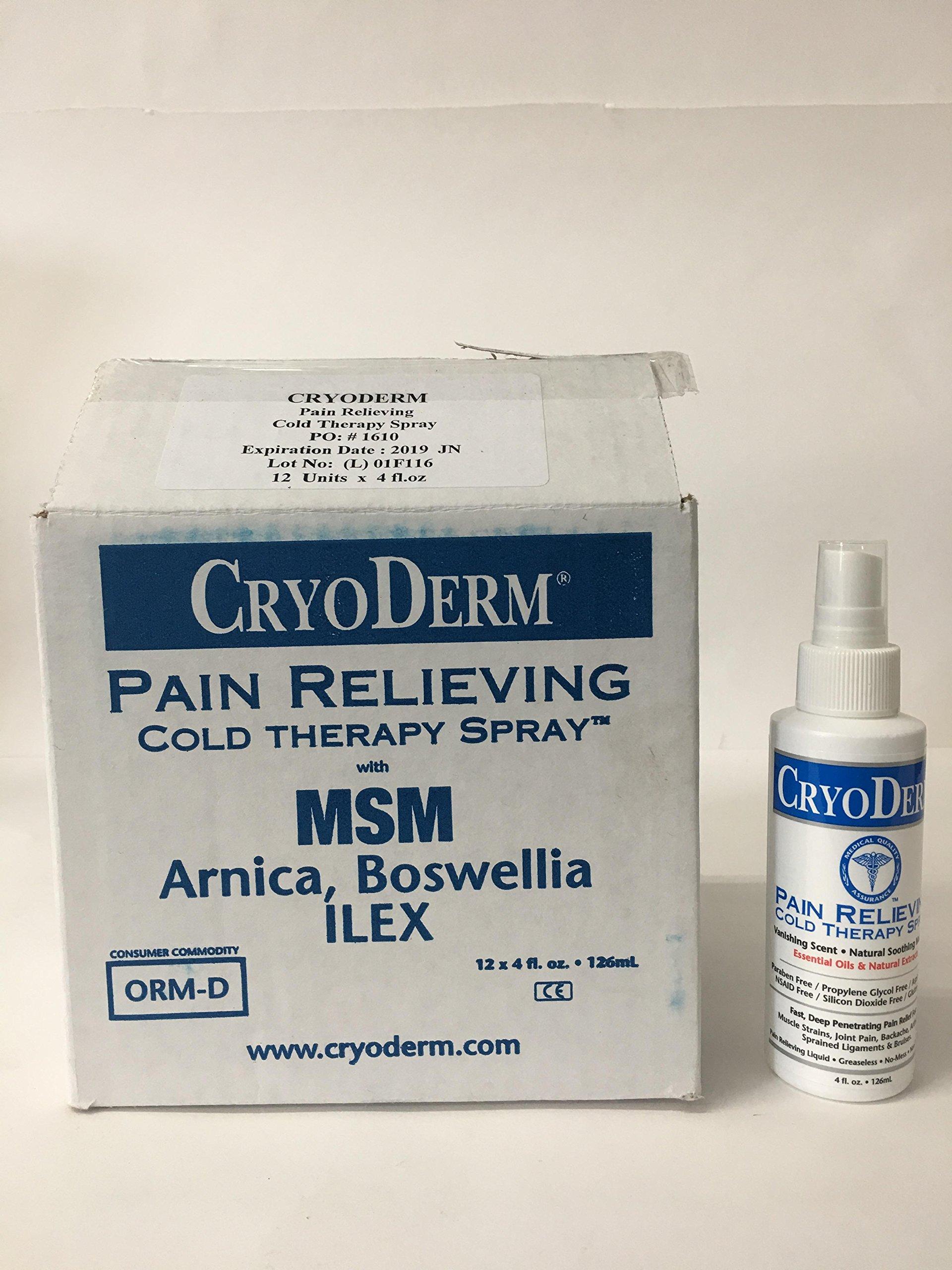 CryoDerm Pain Relief Spray (Case of 12) 4 oz each
