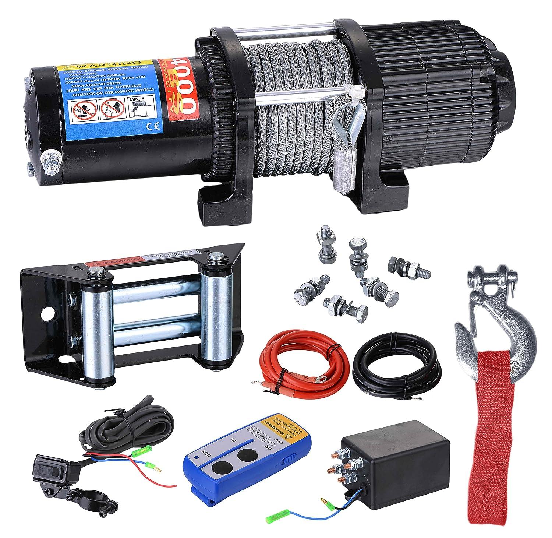 BIZO - Cabrestante de recuperación de remolque, capacidad de 3500lbs para ATV/UTV/SMall SUV o cochecito: Amazon.es: Bricolaje y herramientas