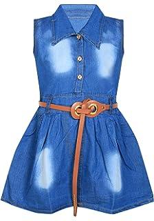 3961b220ab BENKILS Cute Fashion Baby Girl s Infant Denim Party Wear Frock Dress ...
